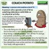 Couch potato - English idiom meaning and example sentences