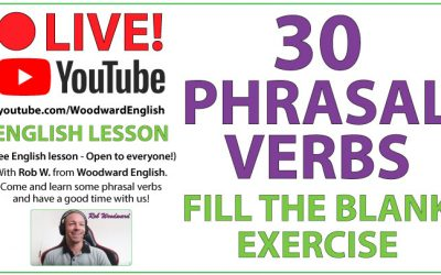Phrasal Verbs – Fill the blank exercise