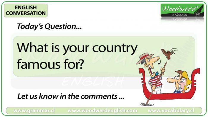 What is your country for? Woodward English Conversation Question 16